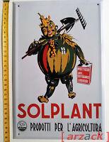 Targa Pubblicitaria in Latta SOLPLANT Prodotti per l'Agricoltura Targhe Hachette