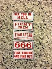 #5 - 5 STICKERS 3 inch DENVER 81 SUPPORT YOUR LOCAL HELLS ANGELS STICKER PACK