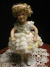 "Vintage Signed Elke Hutchens 10"" Shriley Temple Doll (Baby Take A bOw)"
