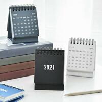 Monatskalender Schreibtisch Tragbarer Mini-Flip-Kalender 2021 Desktop