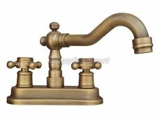 "Antique Brass 4"" Centerset Bathroom Two Holes Basin Faucet Sink Mixer Tap Ynf325"