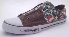 BRAND NEW IN BOX Vintage Ed Hardy Men's Chaud Fashion Sneaker, Brown