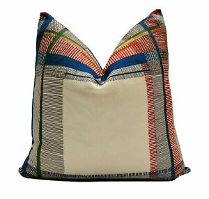 "Hermes ""Nigel's Tartan"" 20"" x 20"" (50cm X 50cm) Cushion Cover"