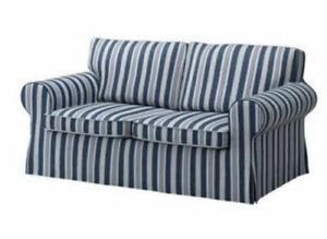 New Original IKEA cover set for Ektorp 2 seat sofa ABYN Blue stripe 801.930.52
