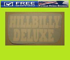 HILLBILLY DELUXE Redneck Cowboy 4X4 TRUCK CAR Vinyl Window DECAL