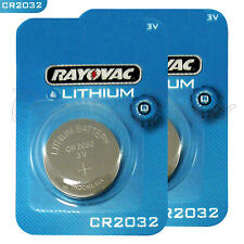 2 x Rayovac CR2032 batteries Lithium 3V Coin cell Watch ECR2032 BR2032 EXP:2023