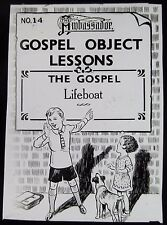 Glass Magic Lantern Slide GOSPEL OBJECT LESSON C1910 DRAWING CARTOON