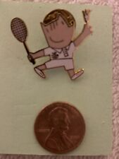 Mascot Cobi Olympic Lapel Pin ~ 1992 Barcelona, Spain Badminton
