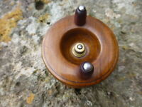 VINTAGE EARLY 1900s WOOD FISHING REEL NOTTINGHAM STYLE WITH ORIGINAL LINE EX.CON