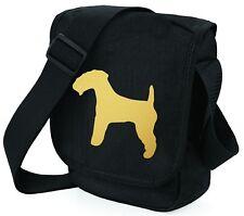 More details for lakeland terrier bag metallic gold / silver on black shoulder bags mothers day