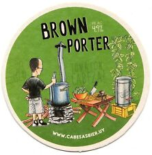 """Uruguay beer coaster Cabesas Bier """"Brown Porter"""""""