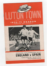 Youth International England v Spain 20/04/1971