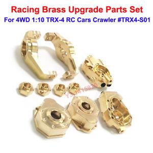 Racing Brass Upgrade Part Set For 4WD 1:10 TRX-4 RC Cars Crawler #TRX4-S01