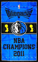 Dallas Mavericks NBA Championship Flag 3x5 ft Vertical Sports Banner Man-Cave