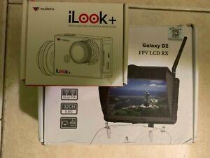 Walkera FPV iLook Camera+ Boscam Dual RX Galaxy D2 LCD