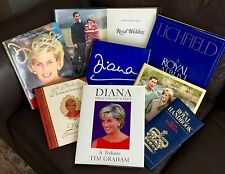 """8 Excellent English Collectable First Edition Hardback Books On """"Princess Diana"""""""