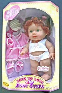 """Berenguer Lots To Love Baby Steps shy shelby bath time  10"""" JC Toys 2004 NEW"""