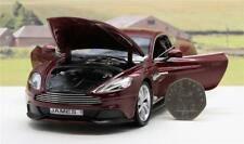 PERSONALISED PLATE GIFT 18cm 1/24 ASTON MARTIN VANQUISH Model Boy Dad Boxed