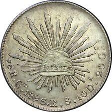 Mexico 8 Reales Go 1896 R.S. Guanajuato, KM# 377.8 (SKU2)