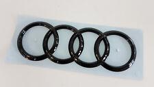 Original Audi Zeichen Heckklappe Ringe Black Edition Emblem Blackline schwarz TT