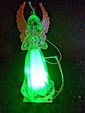 Hallmark Gift Bag Angel Praying Ornament Changing Colors  FREE Ship NEW