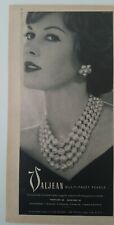 1959 Valjean multi-facet pearl necklace earrings vintage jewelry ad