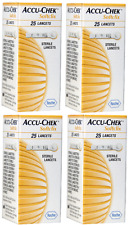 4X ACCU CHEK SOFTCLIX ARE TRADEMARKS 100 HANDS LANCING DEVICE FOR THE CONTROL OF