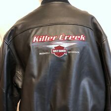 Harley Davidson Killer Creek Roswell Georgia Leather Lined Jacket Sz 2XL Biker