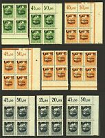 Germany Bavaria range of Freistaat Bayern surcharge overprints in 9 marg  Stamps