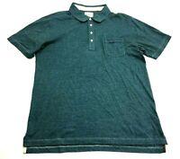 Billy Reid Mens Blue Short Sleeve Polo Shirt Size 2XL