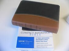NIV Compact Reference Bible Tan Black ~ 1984 Text New in Box