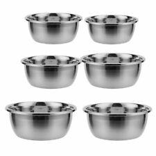 Professional Premium 6 Piece Stainless Steel Mixing Bowl Set Flat Base Dough Pot