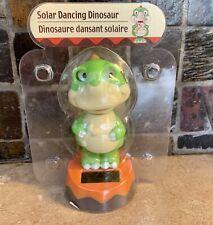 NEW SOLAR POWERED DANCING DINOSAUR BOBBLE HEAD TOY SUN CATCHER GREEN TREX