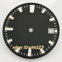 28.5mm Black Sterile Watch Dial Fit Miyota 8205/8215/821A,Mingzhu DG2813/3804