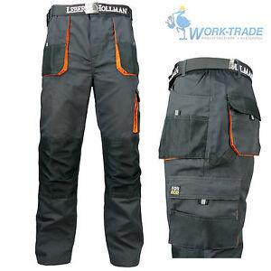 Arbeitshose Multifunktion Bundhose Hose Herren grau schwarz orange Gr. 46-62