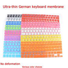"""DEUTSCHE QWERTZ Tastatur Schutzhülle Keyboard Cover Für Macbook Air 13"""" 15"""" 17"""""""