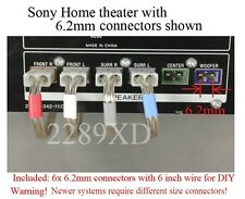 6c 6.2mm speaker connectors made for Sony DAV-DZ100/DZ500/DZ700/FX10/FX80/FX100