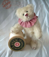 "4"" Circus Teddy > ROOSEVELT BEAR CO > SIGNED C Peterson > mohair MINIATURE ooak"