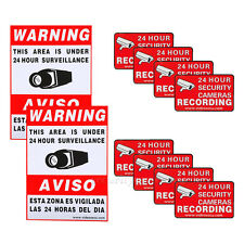 10 Security Camera Video Surveillance Sticker Warning Decal Signs Home CCTV b0i