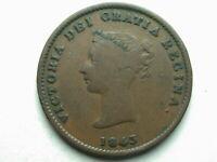 Canada New Brunswick 1843 Half Penny Token