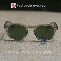 c51e3501473 Retro Vintage Johnny Depp sunglasses crystal grey glasses glass G15 lens M  size