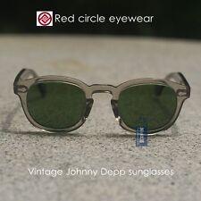 Retro Vintage Johnny Depp sunglass crystal grey frame with glass G15 lens M size