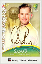 2007-08 Select Cricket Cards World Cup Hat Trick WSC42 Ricky Ponting