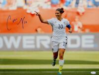 Carli Lloyd Autographed Team USA 16x20 Pointing Photo- JSA W Authenticated