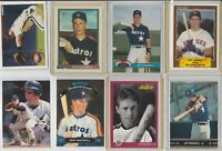 Lot of 11 Jeff Bagwell Cards w/ 5 rookie RC 1991 Leaf Bowman Houston Astros