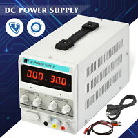 5A 30V DC Power Supply Adjustable Variable Dual Test Lab w/ LED Digital Display