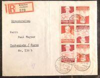 1935 Kirschau Germany Registered Cover To Taubenheim Third Reich Professions