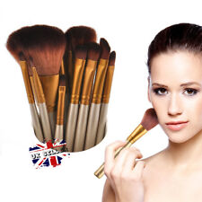 12PCS Make Up Brushes Set Eyeshadow Eyeliner Lip Powder Foundation Blusher Tool