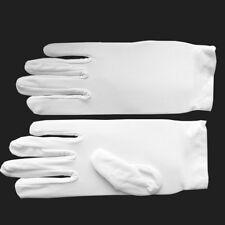 Ladies Mens White Short Gloves Captain Clown Magician Fancy Dress