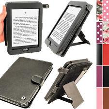 """Schwarz PU Leder Tasche Hülle für Amazon Kindle Paperwhite 3G 6"""" Wi-Fi 2GB Case"""